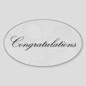 Congratulation Swirls Sticker