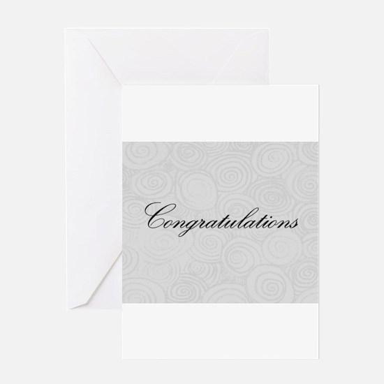Congratulation Swirls Greeting Cards