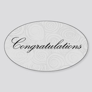 Congratulation Swirls Sticker