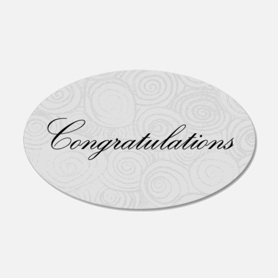 Congratulation Swirls Wall Decal