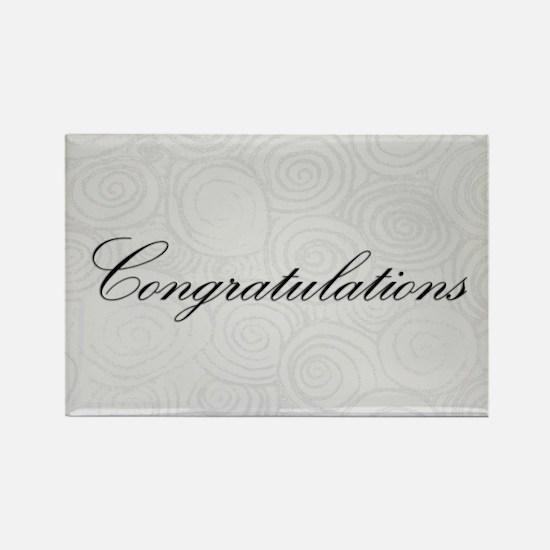 Congratulation Swirls Magnets