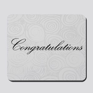 Congratulation Swirls Mousepad