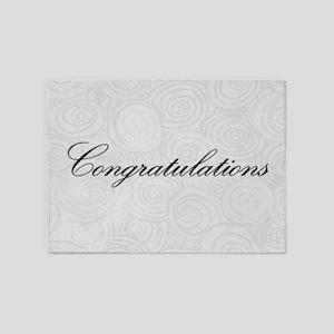 Congratulation Swirls 5'x7'Area Rug