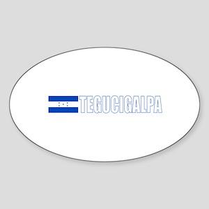 Tegucigalpa, Honduras Oval Sticker