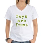 Boys are Dumb Women's V-Neck T-Shirt