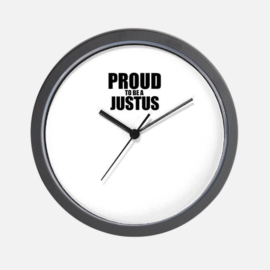 Proud to be JUSTUS Wall Clock