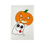Ghost Jack-O-Lantern Rectangle Magnet (10 pack)