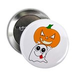 Ghost Jack-O-Lantern Button