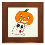 Ghost Jack-O-Lantern Framed Tile