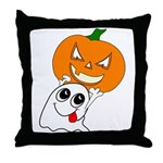 Ghost Jack-O-Lantern Throw Pillow