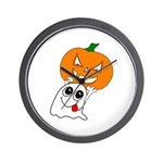 Ghost Jack-O-Lantern Wall Clock