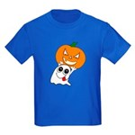 Ghost Jack-O-Lantern Kids Dark T-Shirt