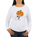 Ghost Jack-O-Lantern Women's Long Sleeve T-Shirt