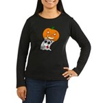 Ghost Jack-O-Lantern Women's Long Sleeve Dark T-S