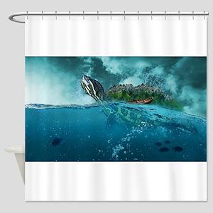 Fantasy Turtle Reptile Shower Curtain