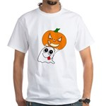 Ghost Jack-O-Lantern White T-Shirt