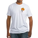 Ghost Jack-O-Lantern Fitted T-Shirt