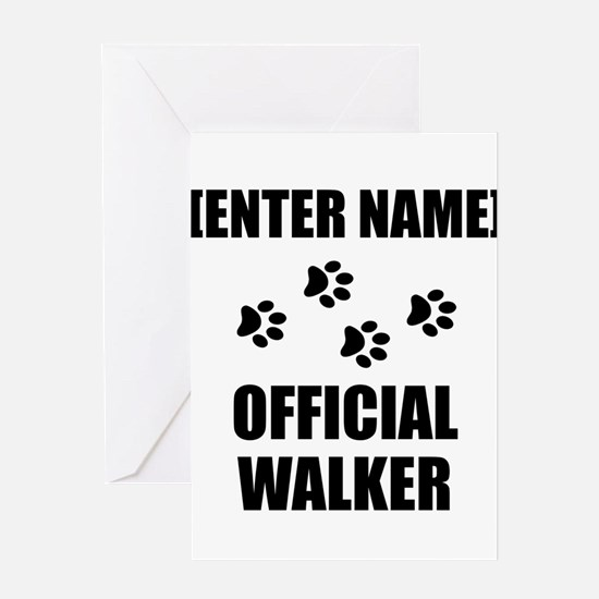 Official Pet Walker Personalize It!: Greeting Card