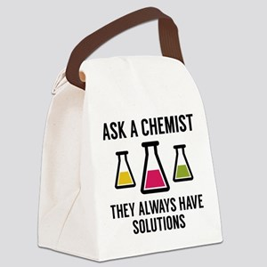 Ask A Chemist Canvas Lunch Bag