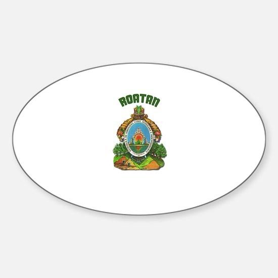 Roatan, Honduras Oval Decal