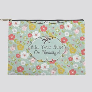 PERSONALIZED Cute Floral Joy Makeup Bag
