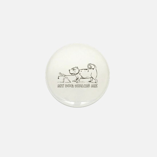 Funny Dog Walker Mini Button