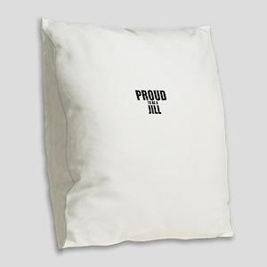 Proud to be JILL Burlap Throw Pillow