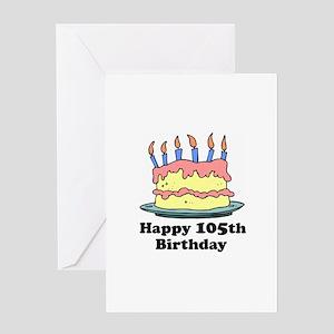 Happy 105th Birthday Greeting Card