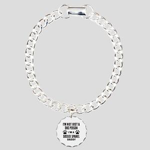 I'm a Sussex Spaniel Dad Charm Bracelet, One Charm