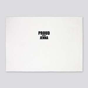 Proud to be JENNA 5'x7'Area Rug