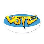Design 160322 - Vote Oval Car Magnet