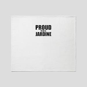 Proud to be JARDINE Throw Blanket