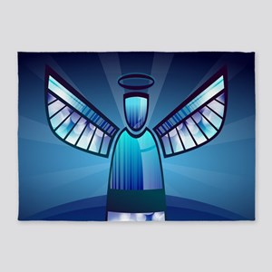 Abstract Angel 5'x7'Area Rug