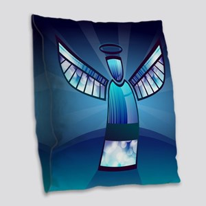 Abstract Angel Burlap Throw Pillow