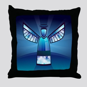 Abstract Angel Throw Pillow