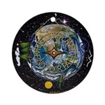 Hiker's Soul Compass Space Round Ornament