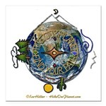 Hiker's Soul Compass Earth Square Car Magnet 3