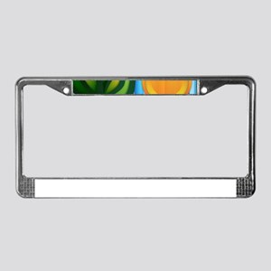 Abstract Stylised Landscape License Plate Frame