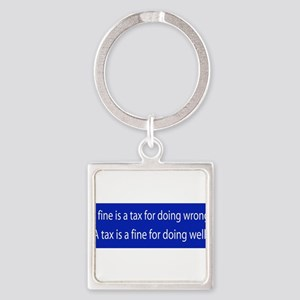 A fine is.bumper sticker Keychains