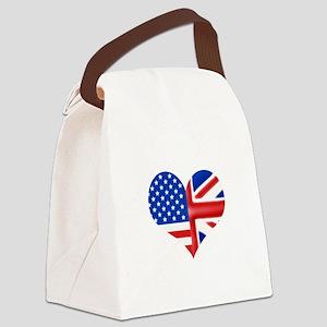 baheartforblack Canvas Lunch Bag