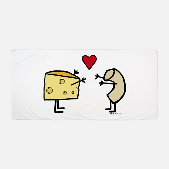 Macaroni and Cheese Love Beach Towel