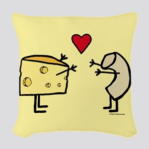 Macaroni and Cheese Love Woven Throw Pillow