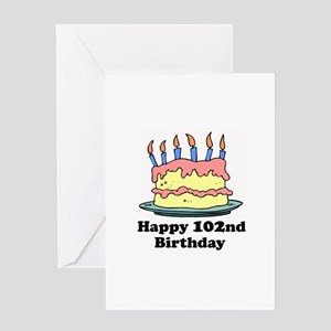 Happy 102nd Birthday Greeting Card