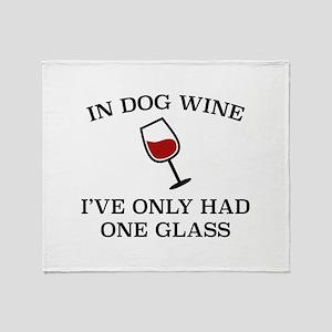 In Dog Wine Stadium Blanket