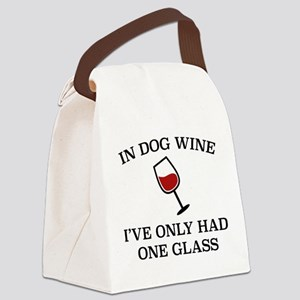In Dog Wine Canvas Lunch Bag