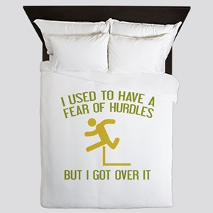Fear Of Hurdles Queen Duvet