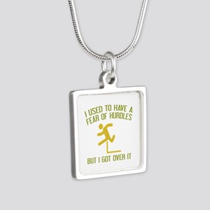 Fear Of Hurdles Silver Square Necklace