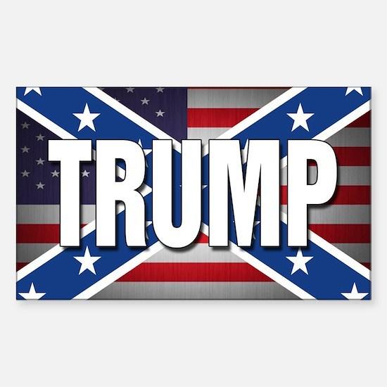 Donald Trump American Flag Sticker (Rectangle)