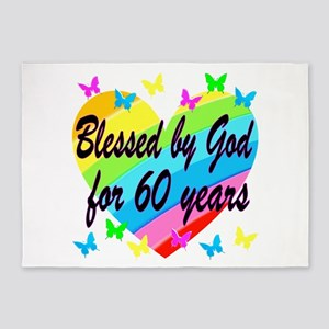 BLESSED 60TH 5'x7'Area Rug