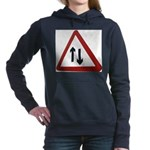 Two way Women's Hooded Sweatshirt